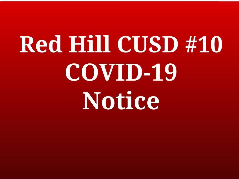 Red Hill CUSD #10 COVID-19 Update