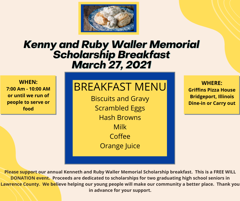 Kenny and Ruby Waller Memorial Scholarship Breakfast